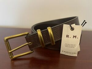 R.M. Williams Brown Leather Latrobe Belt Size 38 Brand New With Tag RM Williams