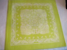 Nobility Placemats - set of 6 green - bandana style - new with tag