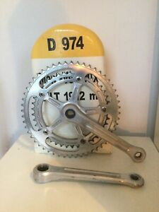 Vintage Campagnolo Nuovo Record Chainset - 170mm, 52/42