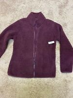 Amazon Essentials Women's Polar Fleece Lined Sherpa Long Sleeve Purple Size S