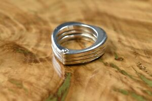 Genuine Links of London Three Hearts Ring Hallmarked Size L