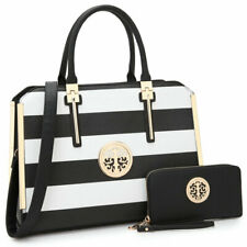 Women Faux Leather Handbag Set Briefcase Tote Laptop Bag Work Purse with Wallet