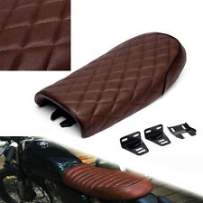 Brown Universal Cafe Racer Seat Tracker Scrambler Saddle for Honda Yamaha Suzuki