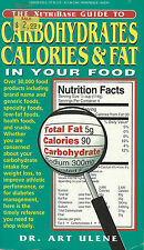 The Nutribase Guide to Carbohydrates Calories Fat In Food 1995 Paperback Book