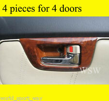 TOYOTA HILUX VIGO SR5 UTE MK6 FORTUNER WOOD WOODGRAIN DOOR INNER HANDLE SURROUND