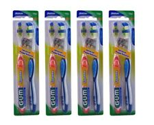8 Toothbrushes (4X) GUM Medium Toothbrushes Supreme Advanced Plaque Removal NEW
