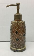 New Lotion / Soap dispenser Anna's linens Mosaic brown shades lotion dispenser