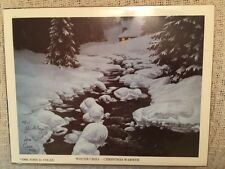 John D. Cogan Winter Chill - Christmas Warmth Rare Signed & Numbered Early Work