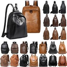 Womens Mens Shoulder Bag Travel Satchel Rucksack Chest  School Bags Backpack New