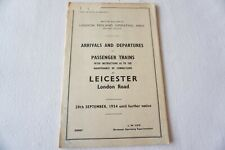 More details for 1954 leicester london road working arrivals departures timetable trip notice