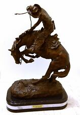 "New ""Rattle Snake""  Bronze Collectible Sculpture by F. Remington H26"" NEW"