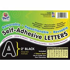 "Pacon Self-Adhesive Letters 2"" 159 Characters Black 51650"