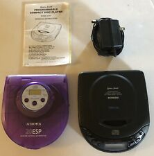 Lot (2) Portable Cd Players; Audiovox Dm8801 & Lenoxx Sound w/Power Cord Tested
