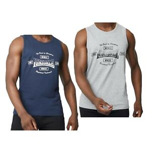 Mens Lonsdale Cotton Everyday Heavyweight Jersey Tank Vest Sizes from S to 4XL