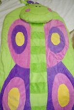 Kids Icon Sleeping bag pillow butterfly Emma New Pink green Girls personalized