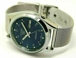 seiko 5 automatic men's blue dial 6309 day/date vintage japan watch run order