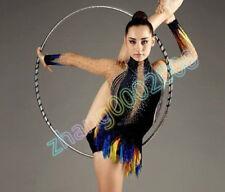 rhythmic gymnastics leotard.Black competition Acrobatic baton dance RG custom