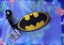 "Six Flags Vinyl Batman Backpack Clip Season Pass ID Holder Luggage Tag 6"" NOS"