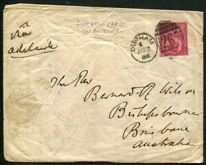 GB 1888 cover to Brisbane, Queensland, 6d deep purple/rose-red SG.208a tied...