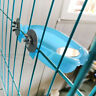 Blue Parrot Bird Bathtub Pet Cage Accessories Mirror Bath Shower Box Small