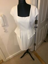 Off White Zara dress In A Fitted Peplum Style Beautiful Elegant And Stylish