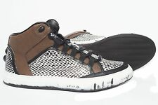 Roberto Cavalli 7797/RC logo brown with the print lace up sneakers
