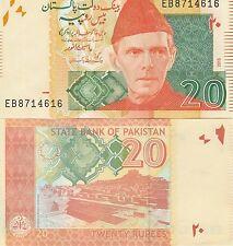 Pakistan P55g, 20 Rupee, Mohammad Ali Jinna /  Mound of the Dead, UNC - great UV