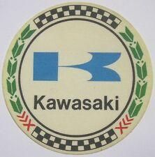 Vecchio Adesivo da Collezione in materiale telato /Old Sticker KAWASAKI (cm 8,5)