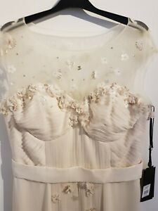 BNWT Aftershock Champagne Wedding/Occasion Dress with Pleats, Size 16/XL