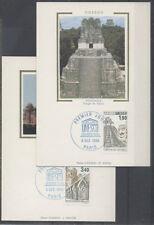 FRANCE FDC - S91 92 5 UNESCO -  PARIS 6 Decembre 1986 - LUXE sur soie