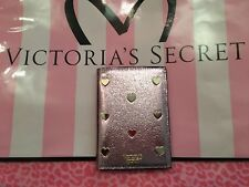 New Victoria' Secret Pink Pop Heart Gold Metallic Passport Cover and card holder