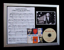 PHIL COLLINS+SIGNED+FRAMED+AGAINST ALL ODDS=100% AUTHENTIC+EXPRESS GLOBAL SHIP!