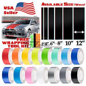 Gloss Color Racing Stripes Vinyl Wrap Decal For Mitsubishi Lancer 10FT / 20FT