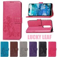Leaf Flip PU Leather Stand Case Wallet Cover For Nokia 2.1 3.1 5.1 6.1 7.1 2018