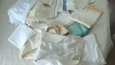 Lot of Vintage Textiles Linens Tablecloth Material Cutter Craft Over 4 Lb!