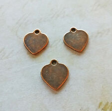 """Heart Stamping Blank Metal Hand Stamping Heart Charms Rustic 10 pcs 16mm/0.6"""""""