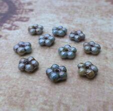 120 Beads Forget Me Not Czech Beads 5 mm Flower Beads Blue Lazure