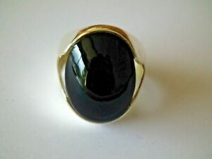 Bague - Onyx - Argent - 925/1000 - TAILLE 60 / 9,5 - NEUF *