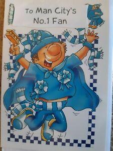 Manchester City Football Club. To Man City's No1 Fan. Birthday Card