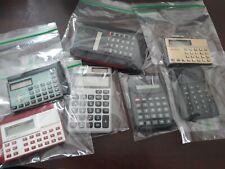 Lot of 7 Vintage Calculators-Amex-Vfw-Casi o-Cartron