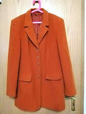 Blazer Mantel Winterjacke Wintermantel Gr. 40 M braun Fleece Cashmere Top!