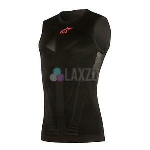 Alpinestars Cycling Lightweight Base Layer Sleeveless Tech Tank Black/Red XS/S