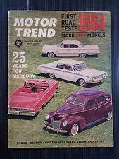 Motor Trend Oct 1963 - 1964 Cars Thunderbird - Comet - Dodge - Mercury - Volvo