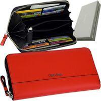 CALVIN KLEIN Damen-Geldbörse Rot Brieftasche Geldbeutel Geldtasche Portemonnaie