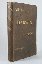 What Darwin Saw in His Voyage Round the World in the Ship Beagle 1879 1st Ed HC
