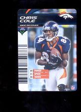 2003 NFL Showdown CHRIS COLE Denver Broncos Rare Card
