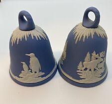 Vintage Wedgwood New Year's Bells, Penquin 1979 Moose 1981 Jasperware