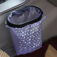 Black Auto Car Garbage Trash Carry Bag Sucker Trash Can Rack Hanger Support L