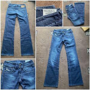 ladies diesel Ronhar jeans blue 008FC bootcut waist 25 inside leg 30        (14)