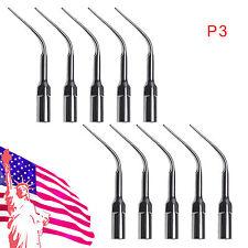 USA 10pc Dental EMS WOODPECKER Type Ultrasonic Scaler Tip P3